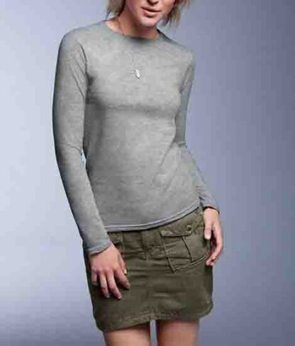 FASHION BASIC FITTED LONG SLEEVE TEE